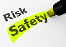 Risk Vs Safety Choice Concept Stock Image