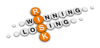 Risk win or lose stock photography