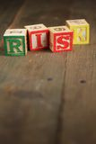 Risk wood blocks Royalty Free Stock Images