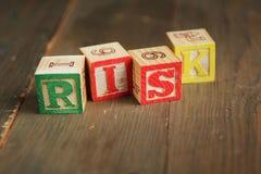Risk wood blocks Stock Photo