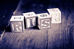 Risk wood blocks Royalty Free Stock Photo