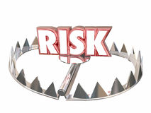 Risk Word Bear Trap Danger Liability Hazard. 3d Stock Image