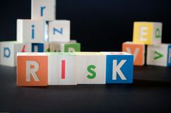 RISK word with colorful blocks Stock Photography
