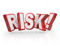 Risk Word 3d Letters Liability Danger Hazard Potential Stock Image