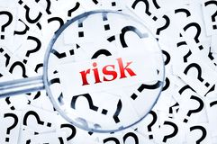 Risk word Royalty Free Stock Image