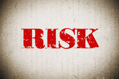 Risk. Word on grunge wall Royalty Free Stock Photos