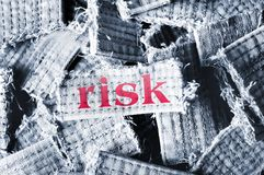 Risk word Royalty Free Stock Images