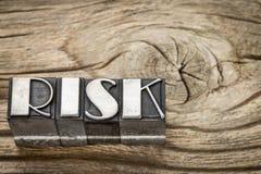 Risk word in metal type Stock Photo
