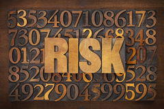 Risk word in wood type Royalty Free Stock Photo