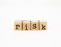 Risk wording, investment and insurance concept Royalty Free Stock Photography