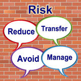 Risk Words Indicates Unstable Beware And Risky Stock Photo