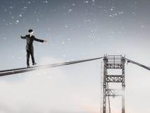 Riskant und entschlossen es tun Lizenzfreie Stockfotos