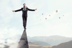 Riskant und entschlossen es tun Lizenzfreies Stockbild