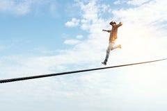Riskant und entschlossen es tun Lizenzfreies Stockfoto