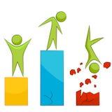 Riskante Gewinn-Geschäfts-Ikonen-Metapher Stockfotos