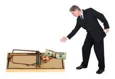 Riskera girighetbegreppet för affären, Salar som marknadsför Arkivfoto