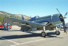 Riskera-Vought F4U-corsairen Arkivfoto