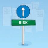Riskieren Sie Signpost stock abbildung