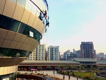 Risking lives. It was taken at American International University-Bangladesh campus Royalty Free Stock Photography