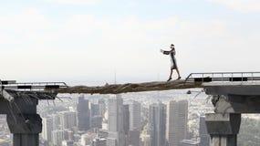 Risking and making careful steps Stock Image