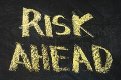 Risks ahead Royalty Free Stock Image