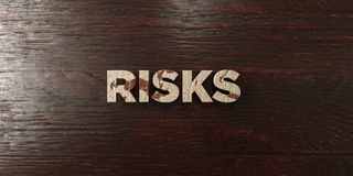 Risks - grungy wooden headline on Maple  - 3D rendered royalty free stock image. This image can be used for an online website banner ad or a print postcard Royalty Free Stock Photos