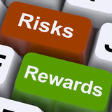 Risks Rewards Keys Show Payoff Or Roi Royalty Free Stock Photography