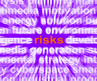Risks Word Shows Investment Profit And Loss. Risks Word Showing Investment Profit And Loss Stock Images