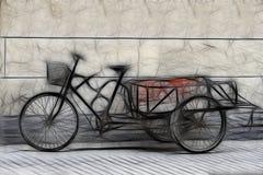 Riskshaw asiático Imagenes de archivo
