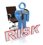 Risky Character Showing Dangerous Hazard Or Risk Royalty Free Stock Photography