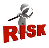 Risky Character Shows Dangerous Hazard Or Risk Stock Image
