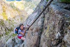 Risky climbing Stock Photography
