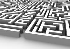 Risky labyrinth