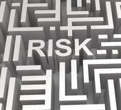 Risky Maze Shows Dangerous Or Risk Royalty Free Stock Images
