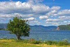 Risnesfjorden blisko Brekke zdjęcia royalty free