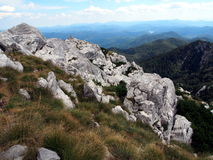 Risnjak National Park. Panoramic view with mountain hut in Risnjak National Park, Croatia Stock Photography