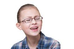 Riso adolescente da menina, foto de stock royalty free