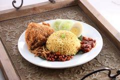 Riso asiatico del pollo fritto Fotografie Stock