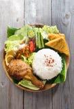 Riso asiatico del pollo fritto Immagine Stock