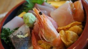 Riso assortito dei frutti di mare Fotografia Stock