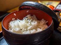 Riso bianco giapponese Fotografia Stock