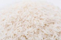 Riso bianco, grano lungo naturale del riso per fondo e struttura immagini stock libere da diritti