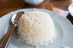 Riso bianco in piatto Immagini Stock Libere da Diritti
