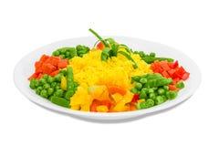 Riso bollito con le verdure immagini stock libere da diritti