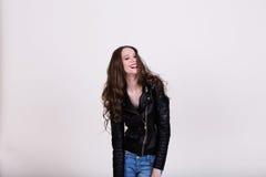 Riso bonito da menina Fotos de Stock