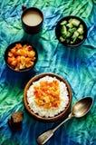Riso con il cavolfiore del curry Immagini Stock Libere da Diritti