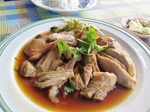 riso con la gamba della carne di maiale Fotografie Stock