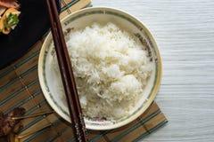 Riso cucinato Fotografia Stock