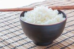 riso cucinato con i bastoncini Fotografia Stock Libera da Diritti