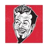 Riso da cabeça do diabo ilustração stock